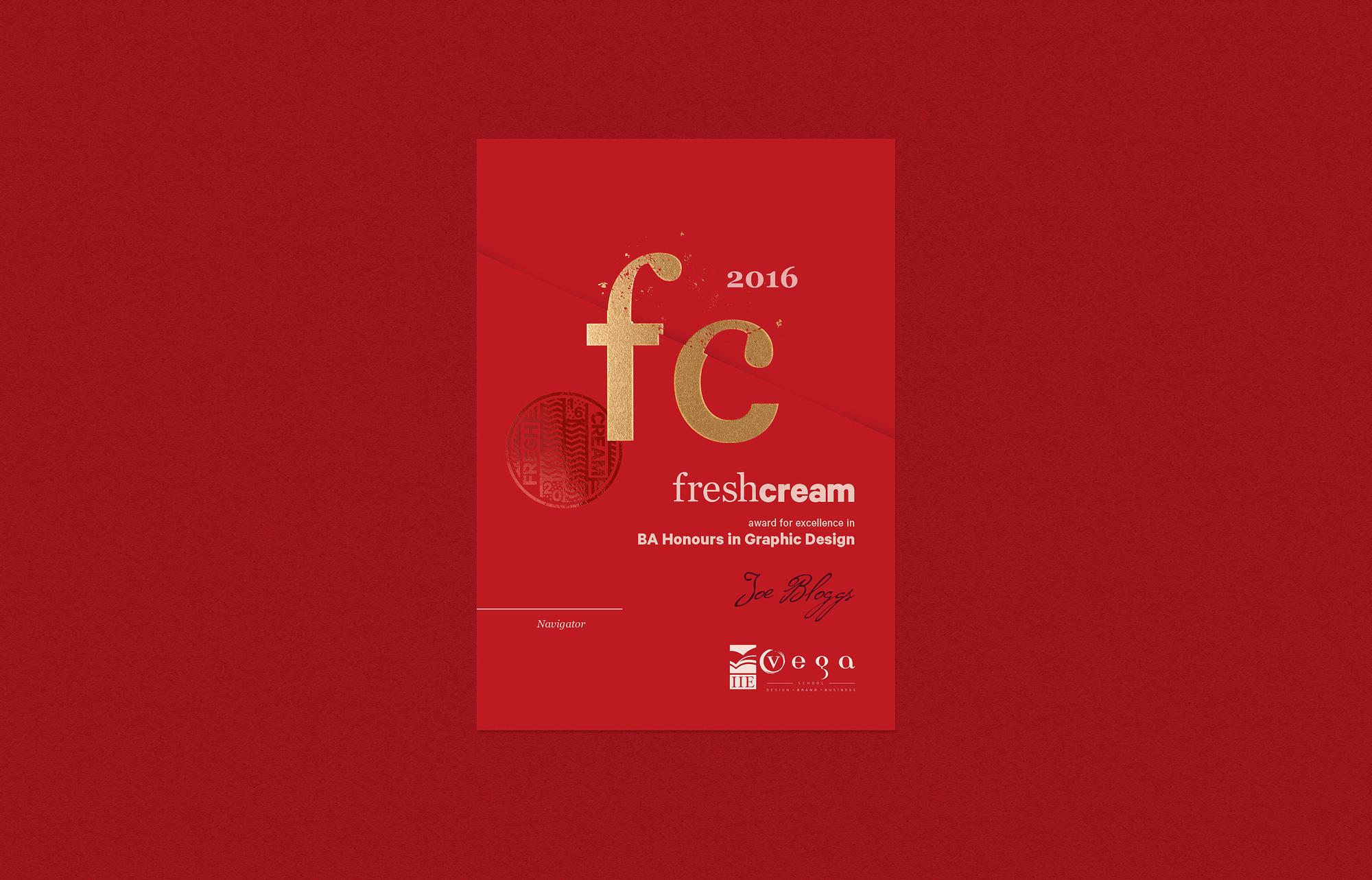 Fresh Cream Certificate