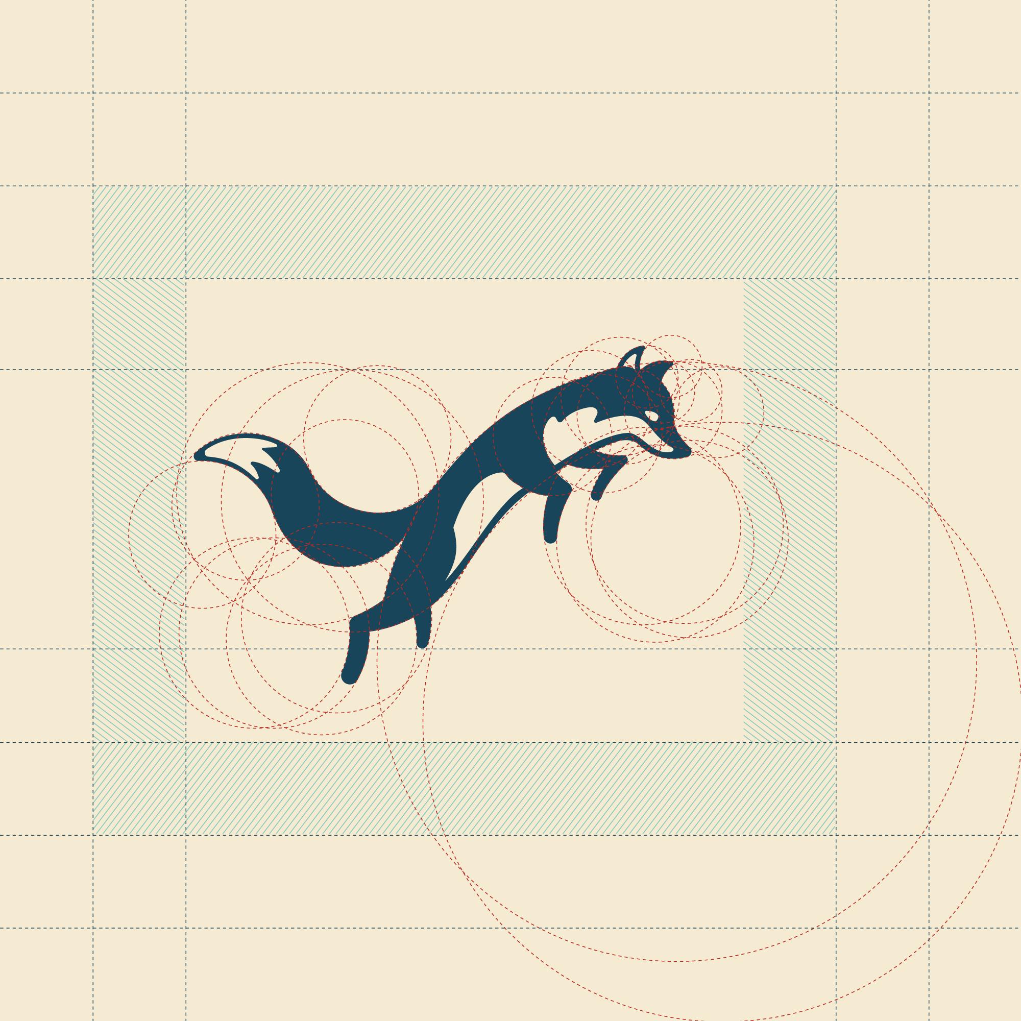 Hunter Gatherer Logomark Grid