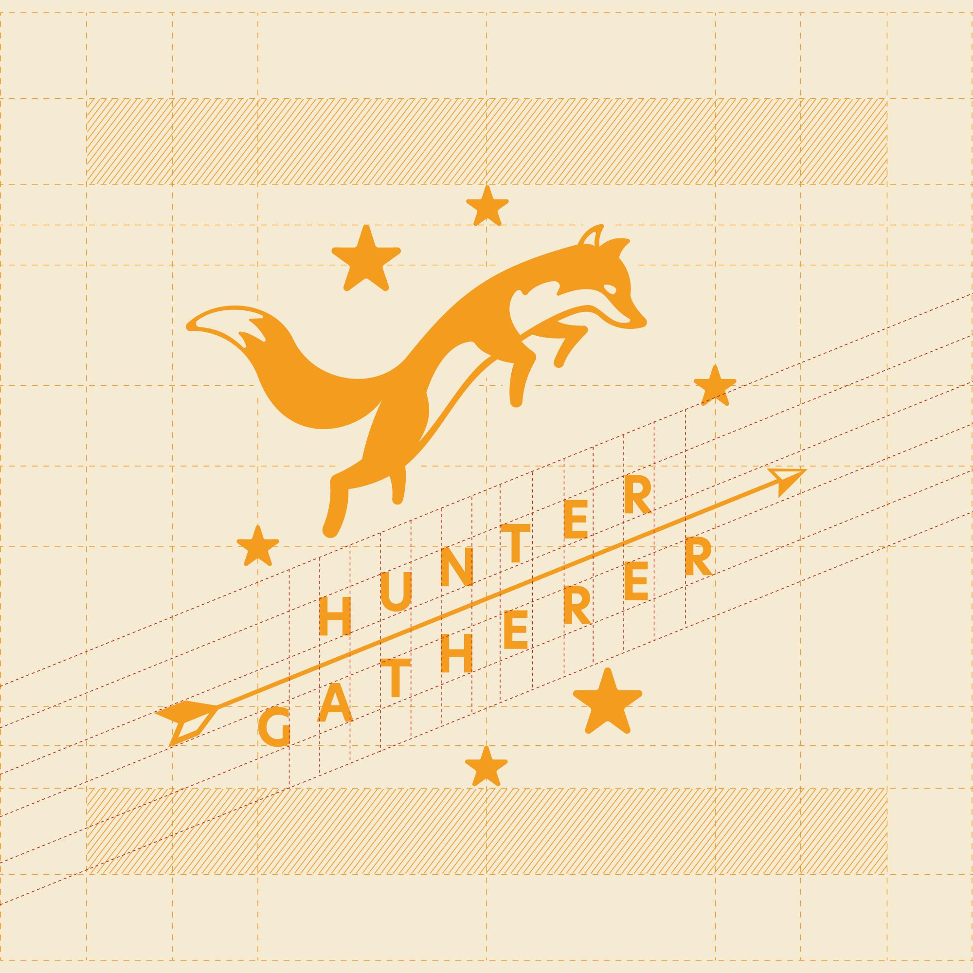 Hunter Gatherer Full Logo Grid