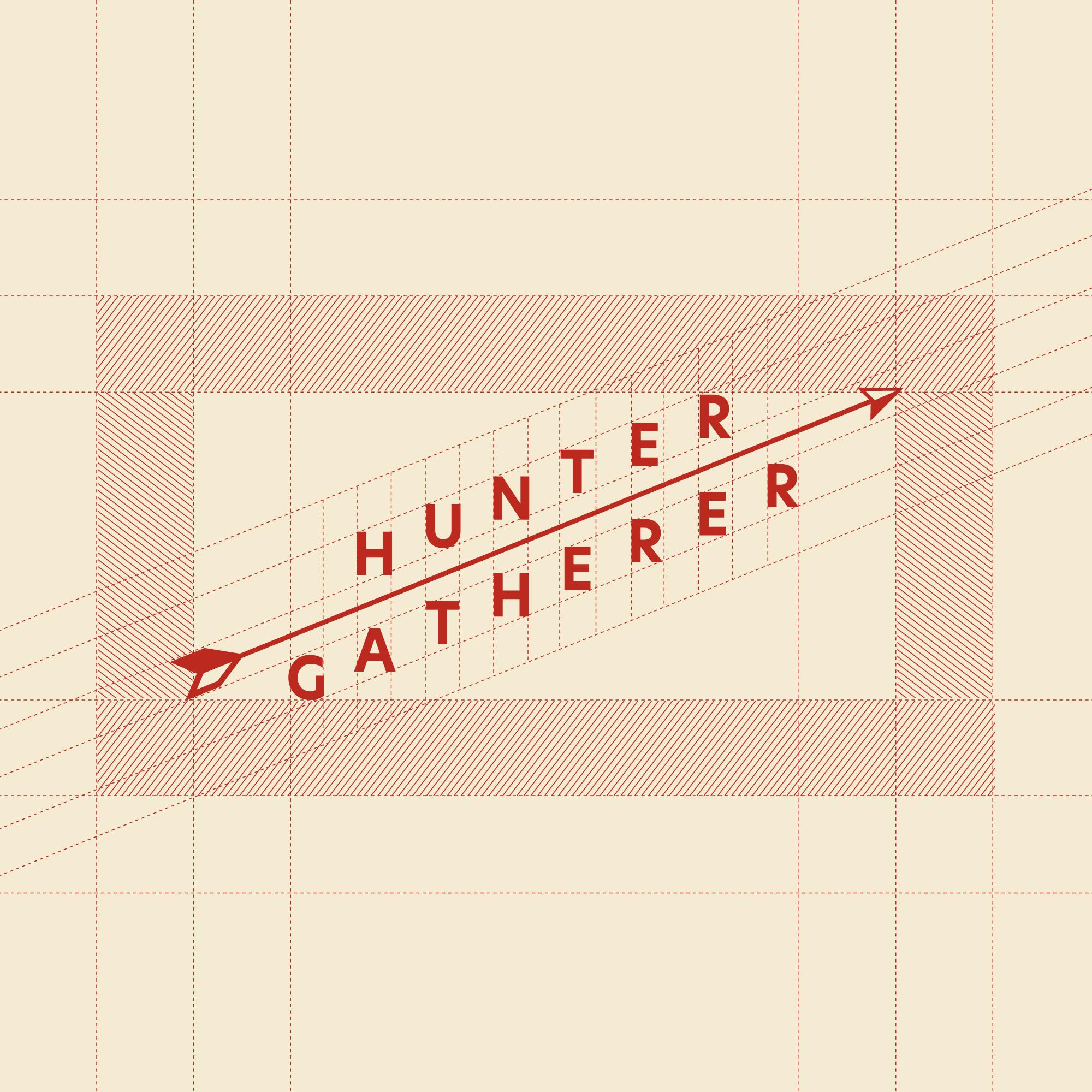 Hunter Gatherer Logotype Grid