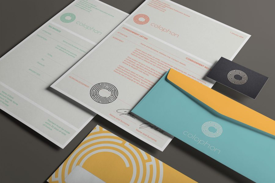 Branding and identity system for Colophon - South African Independent Publication Archive