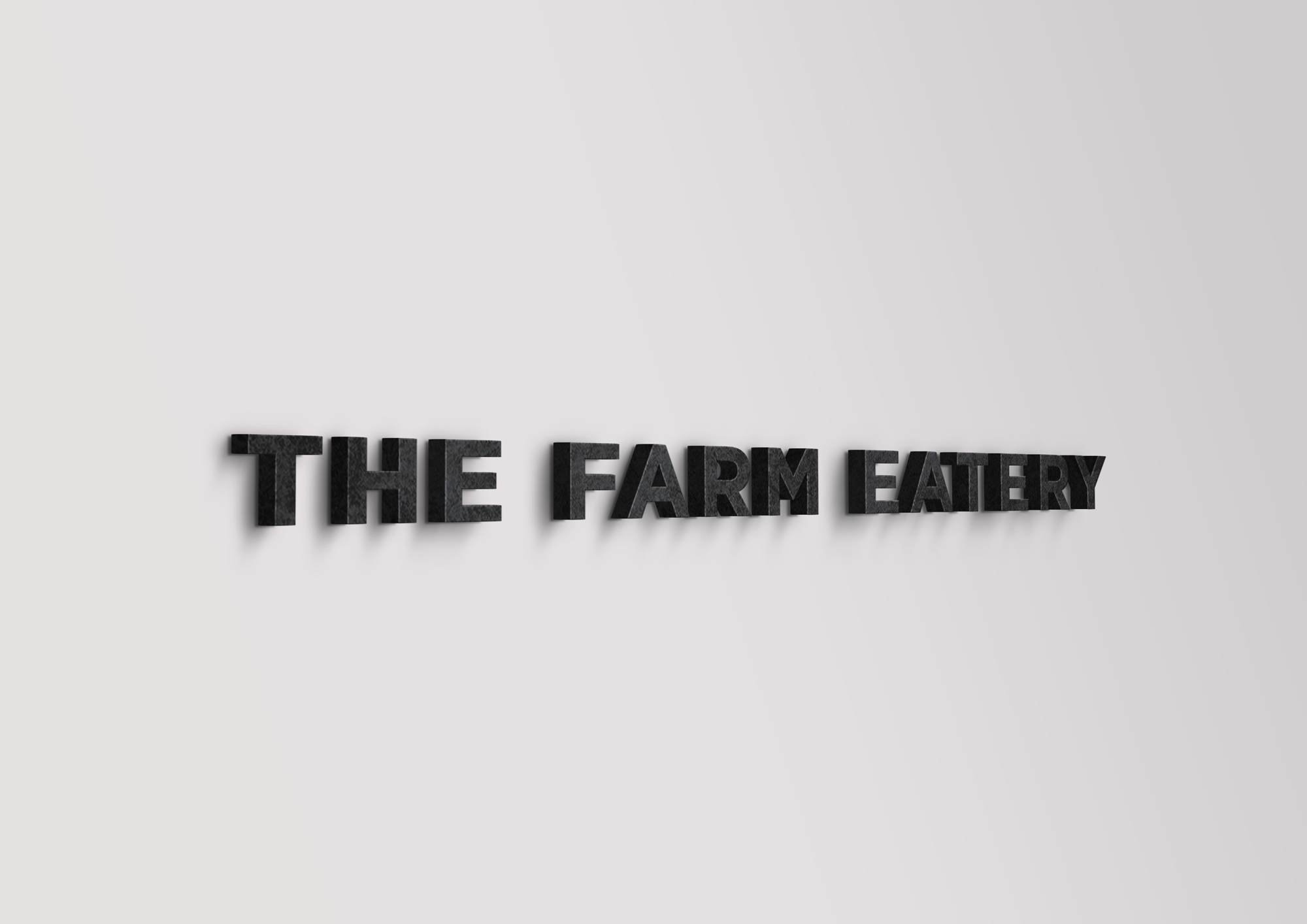 The Farm Eatery Entrance Signage